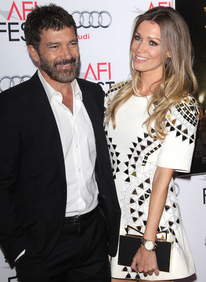 Antonio Banderas and Nikol Kempel
