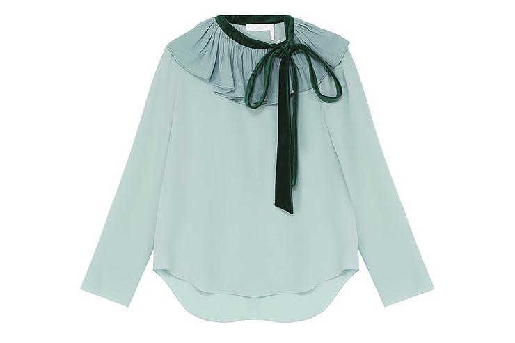 Шелковая блуза, Сhloé, 55 800 руб., ЦУМ