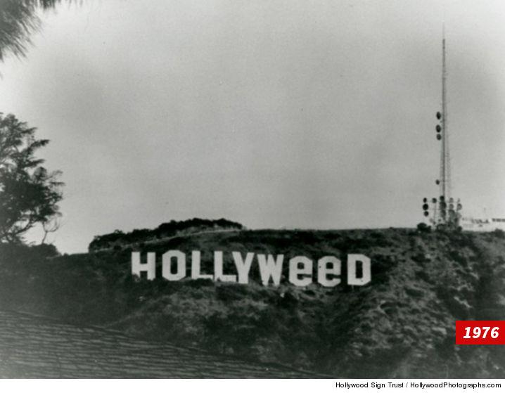 Популярная надпись наголливудских холмах превратилась в«святую марихуану»
