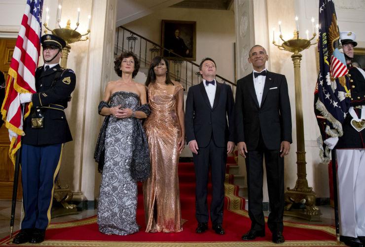 Агньезе Ландини Мишель Обама Маттео Рензи иБарак Обама