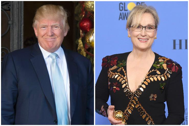 Избранный президент США Дональд Трамп ответил накритику исполнительницы Мэрил Стрип