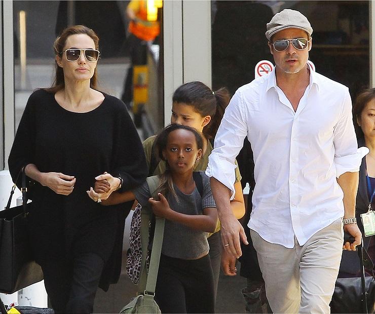 Анджелина Джоли иБрэд Питт сприемной дочерью Захарой