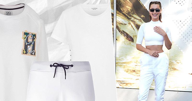 Белые выигрывают: 9 вещей длябелых total look вспортивном стиле