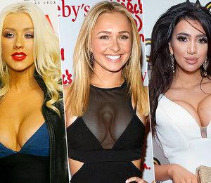 9 знаменитостей снеудачной пластикой груди