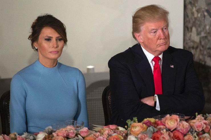 Трамп в сети поздравил супругу сднем рождения
