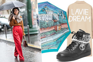 Правде в глаза: стильные и красивые зонты, плащи и резиновые сапоги на весну