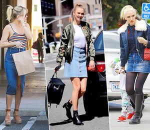 Учимся начужих ошибках: 5 звезд, которые неумеют носить джинсовые юбки