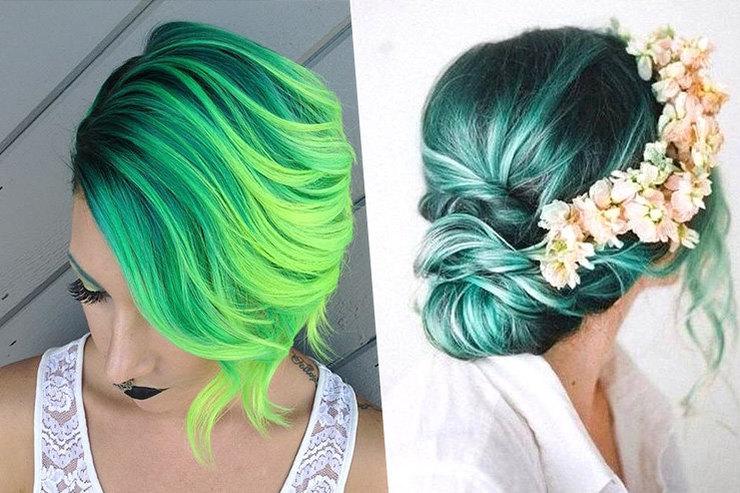 Почему мы будем красить летом волосы взеленый цвет ипри чем тут Рианна?