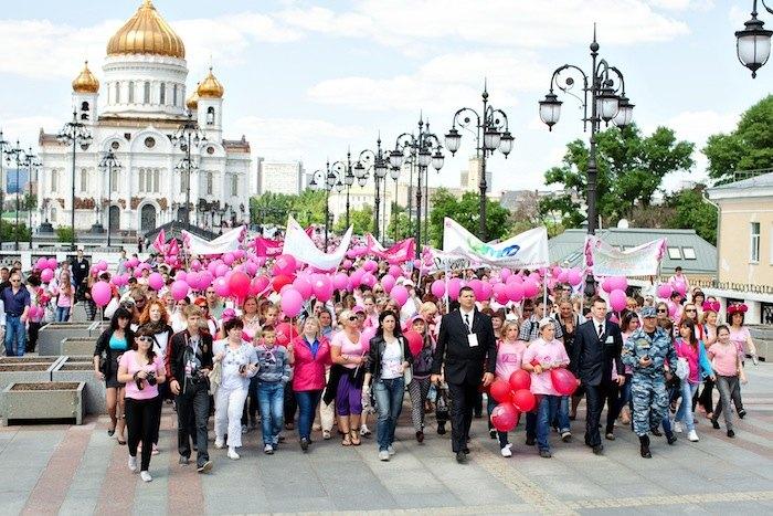 6й благотворительный марш против рака груди